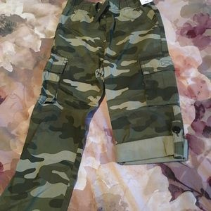 BOYS CAMO ROLL-UP PANTS 4T